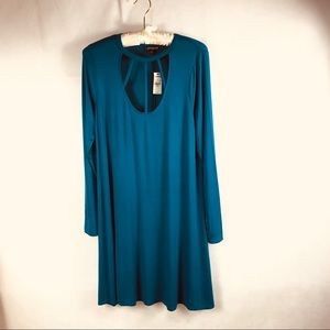 Express M Dress teal long sleeves feel of Jersey